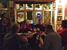 Traditional Irish music at Murphy's on St. Patrick's Day.