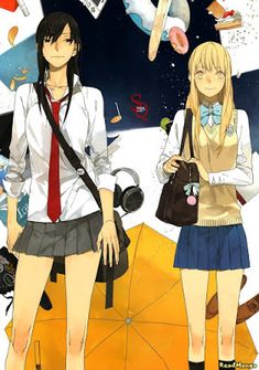 Tamen de Gushi is a really good for a Yuri. I usually don't really read that genre but this is a big exception. It also has a bit of that good good *cough yaoi cough Yuri Manga, Yuri Anime, Manga Art, Manga Anime, Anime Art, C Cassandra, Citrus Anime, Yuri Love, Tan Jiu