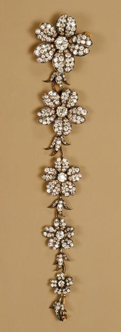 Gold Diamond Corsage Piece 1880–1900