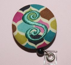 """THE LETTER """"S""""~Id Reel, Monogrammed Retractable-love it"""