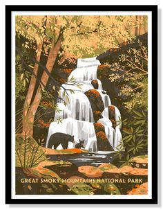 Great Smoky Mountains National Park Poster – Fifty-Nine Parks