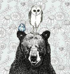 bear, owl, bird @Rebecca Wilson