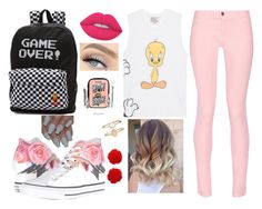"""👍"" by rafia-19 ❤ liked on Polyvore featuring Paul & Joe Sister, Maison Kitsuné, Converse, Vans, Benefit, Lime Crime and Accessorize"