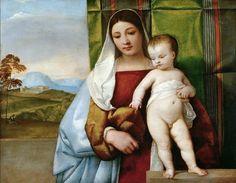 Тициан - Цыганская мадонна. Музей истории искусств
