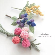 Crochet flower corsage Japanese ebook high quality by Craftebook Crochet Bouquet, Crochet Brooch, Crochet Art, Crochet Motif, Crochet Crafts, Yarn Crafts, Crochet Projects, Crochet Butterfly Free Pattern, Crochet Flower Tutorial