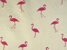 Grafischer Möbelstoff FLAMINGO by Aldeco, Interior Fabrics