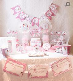 Kit mesa dulce Primera Comunión Rosa - Mi Petit PartyMi Petit Party