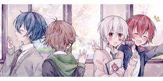 Anime Siblings, Anime Couples Manga, Cute Anime Couples, Anime Girls, Vocaloid, K Project Anime, Anime Group, Estilo Anime, Fanart