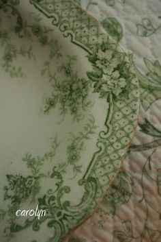 Green Transferware Collection - Carolyn at Warren Grove Garden