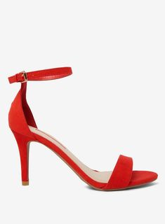 fc23f616f0ee4f Arya Red Suede High Heel Sandals
