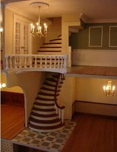 staircase ide for a doll house!