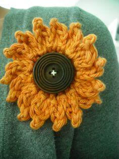 Purple Chair Crochet: Sunflower Tutorial (My Favorite!)