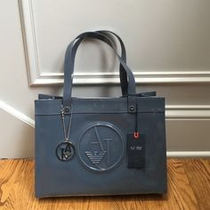 ff56093d15af Grey Patent Faux Leather Bag Brand new Armani Jeans bag. Original tags and  certificate of