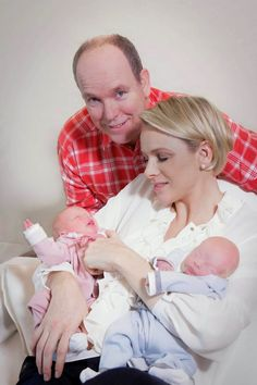 Pin for Later: See the First Pictures of Prince Albert and Princess Charlene's Twins!