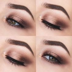 This Glittery Autumn Eyes look is perfect for a Friday night out!
