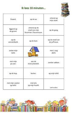 Reading Bingo, Learn Dutch, Becoming A Teacher, Back 2 School, Classroom Language, Kids Writing, Creative Teaching, My Teacher, Speech And Language
