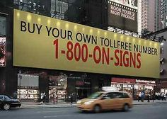 Marketing Advertising Tollfree 800 Phone Number 800-66-Signs / 1-800-ON-SIGNS