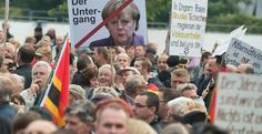 """'Merkel Out!': German Far-right Vents Fury After Cologne Attacks Banners and signs bearing slogans like """"Rapefugees not welcome."""" http://www.infowars.com/merkel-out-german-far-right-vents-fury-after-cologne-attacks/"""