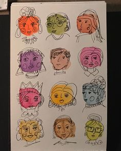 Faces....Inktober at creativebug! (Last lesson #31!) it has been a fun art journey! I've learned alot ! Thank you creativebug and Lisa… Fun Art, Cool Art, Project 365, Draw Something, Sketchbooks, Inktober, Artsy Fartsy, Art Drawings, Lisa