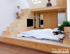 Este quarto foi projetado para pais e filhos aproveitarem juntos | <i>Crédito: Divulgação