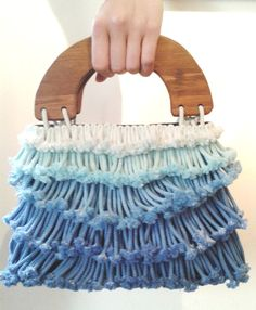 Amazing etsy shop...Waterfall bag with wooden handles