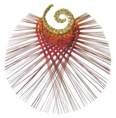 Flax Weaving Harekeke Wall Art- Made in New Zealand Flax Weaving, Basket Weaving, Hand Weaving, World Of Wearable Art, Arts And Crafts Storage, Maori Designs, Nz Art, Weaving Designs, Maori Art