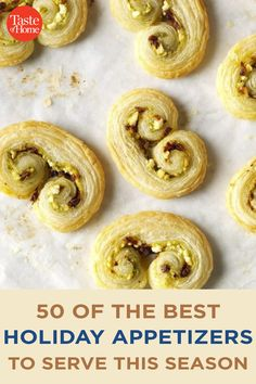 50 of the Best Holiday Appetizers to Serve This Season Best Holiday Appetizers, Holiday Fun, Holiday Recipes, Marinated Olives, Bacon Jam, Holiday Side Dishes, Crab Cakes, Antipasto, Side Dish Recipes