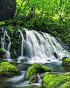 Mototaki Waterfall, Nikaho, Akita, Japan, 元滝, にかほ市, 秋田, 日本