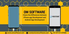 OM Software Clears The Differences Between IPhone App Development And Android App Development Iphone App Development, Mobile App Development Companies, Android Apps, Software, Ipad