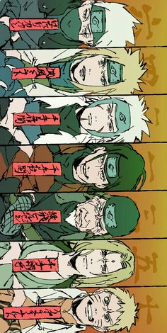 Hatake Kakashi Namikaze Minato Senju Tobirama Senju Hasgirama Sarutobi Hiruzen Senju Tsunade Uzumaki Naruto All the Hokages. Anime Naruto, Naruto Fan Art, Naruto Cute, Naruto Shippuden Sasuke, Naruto And Sasuke, Itachi Uchiha, Gaara, Manga Anime, Wallpaper Naruto Shippuden