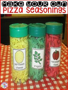 Diy play pizza seasoning