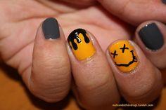I'm Janeth, and I'm obsessed with nail art. Edgy Nails, Grunge Nails, Swag Nails, Trendy Nail Art, New Nail Art, Cool Nail Art, Black Nail Designs, Nail Art Designs, Music Nails