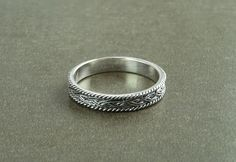 Celtic Band Ring Sterling Silver 925 Celtic Ring Entwined