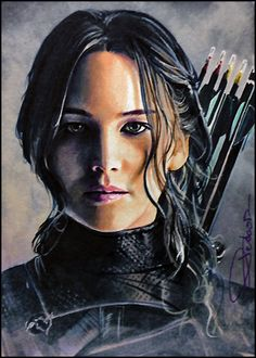 sketch card of HG Mockingjay pt1 2.5*3.5 inch watercolor blended in marker can't wait to see the last chapter! some artworks you probably remember I did back then: