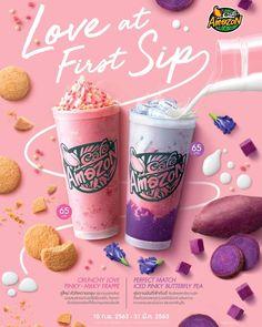 Food Graphic Design, Food Poster Design, Web Design, Food Design, Drink Menu, Dessert Drinks, Juice Ad, Bubble Milk Tea, Food Advertising