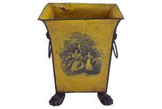 Antique Tole Lion-Handle Cachepot