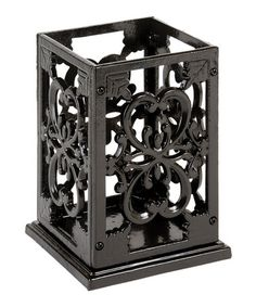 A Cast iron utensil holder. No more tipping the whole thing over  #zulily today!