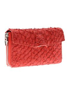 #clutch made of fish leather (perch) | Design by #AlexanderWang