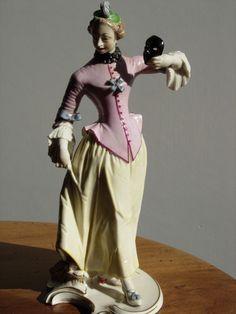 Figur Colombine der Commedia dell arte Nymphenburg Bustelli, selten angeboten!