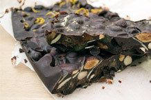 Dark Chocolate + Chia Seed Bark (for glowing skin!)