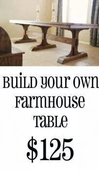 Farm tables farms and tables on pinterest for Make your own farm table