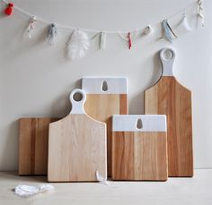 handmade cutting boards...via objets mecaniques from montreal