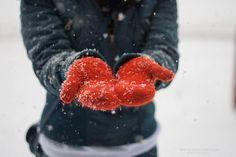 mittens & snow