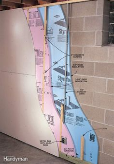 How to Finish a Basement Wall - Step by Step: The Family Handyman