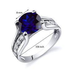 Revoni Bague Femme Solitaire - Argent Fin 925/1000 - Oxyde de Zirconium - Saphir Bleu 2.75 ct: Revoni: Amazon.fr: Bijoux