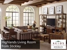 This Stickley Highlands Sectional Sofa Blends The Mission Style Is Famous For With Modern Upholstery Creating A Beautiful Balance Of Clic