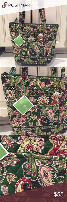 NWT Vera Bradley Villager tote Chelsea green NWT Vera Bradley Villager tote Chelsea green, this is a retired pattern and is brand new. Vera Bradley Bags Totes