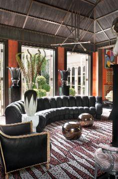 KELLY WEARSTLER   INTERIORS. Hillcrest Estate, Orangerie rug
