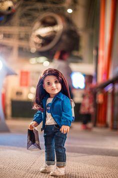 Original American Girl Dolls, American Girl Doll Costumes, Custom American Girl Dolls, American Girl Doll Pictures, My American Girl Doll, American Girl Crafts, American Doll Clothes, Girl Doll Clothes, Doll Hairstyles