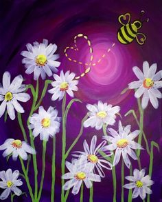 Daisies and The Love Bug at Level 20 Lounge Pittsburgh Paint Nite 01/17/2016